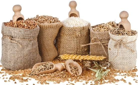 different-types-of-grains-in-brown-bags