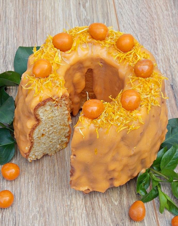 Babka nagietkowo-pomarańczowa