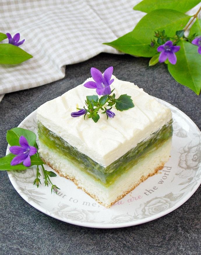 Orzeźwiające ciasto – Zielone Jabłuszko