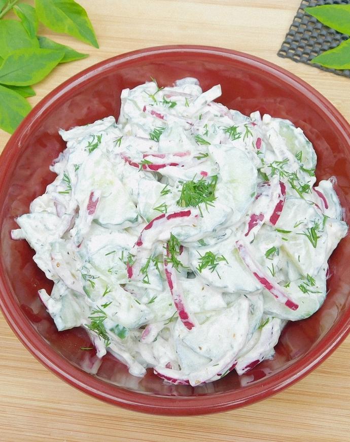Grecka sałatka z ogórków